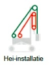 Hei-installatie