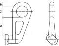 Containerbeslag 45 streg