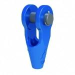 Socket open spelter pin