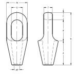 Closed Spelter Sockets maat