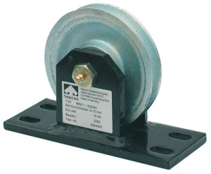 Haacon kabelschijfstoel 100mm verzinkt 500 kg
